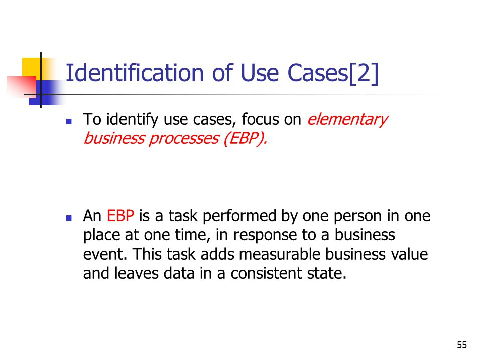 Identification of Use Cases [1]